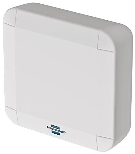 Brennenstuhl 1294140 Brematicpro Funk-Temperatur- und Feuchtigkeitssensor für Innen und Aussen (Smart Home Temperatur-Sensor, Feuchtigkeitsmelder, Ablesen der Daten über App) weiß