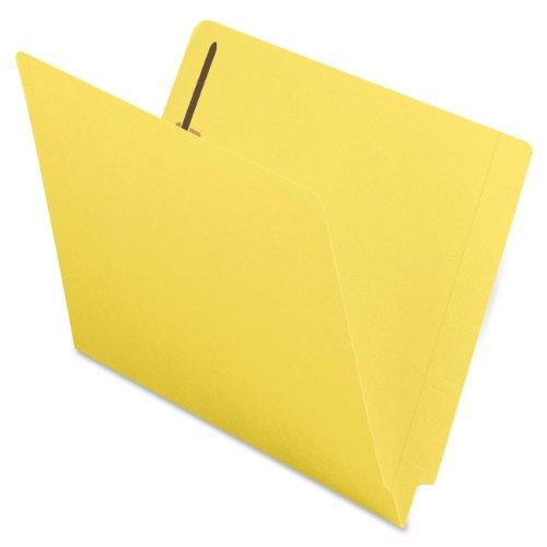 Smead End Tab Fastener File Folder, Shelf-Master Reinforced Straight-Cut Tab, 2 Fasteners, Letter Size, Yellow, 50 per Box (25940)