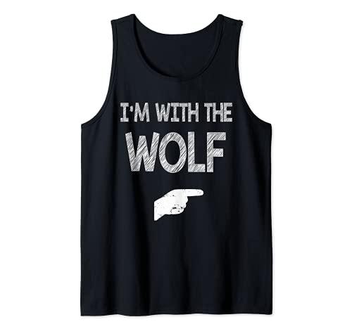 Estoy con los disfraces de Halloween de Lobo Camiseta sin Mangas