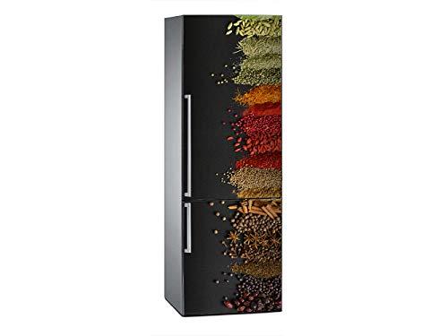 Oedim Vinilo para Frigorífico Imitación Óleo Especias 185x60cm | Adhesivo Resistente y Económico | Pegatina Adhesiva Decorativa de Diseño Elegante