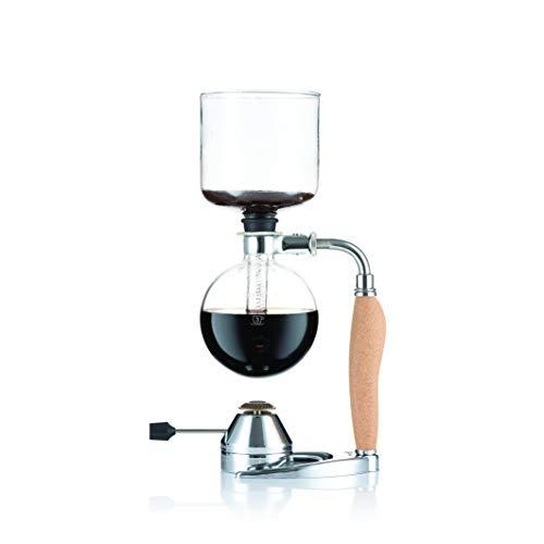 Bodum K11863-109 MOCCA Vakuum-Kaffeebereiter, 4 Tassen, 0.5 l mit Gasbrenner, Edelstahl