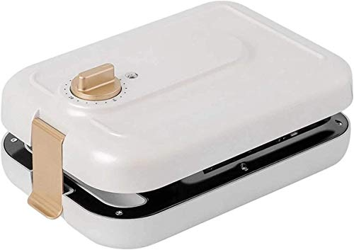 HSZW polierter Edelstahl-Toaster Multifunktionale elektrische Eier Sandwichmaker Antihaft-Brotgrill Waffel Crêpe Toaster Pfannkuchen Backen Frühstücksmaschine 1400W