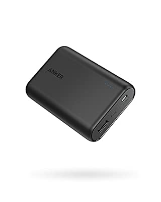 Anker PowerCore 10000mAh Power Bank, Small & Light Portable Charger, Ultra-Compact External Battery with Fast-Charging Technology for iPhone, Samsung Galaxy, and More