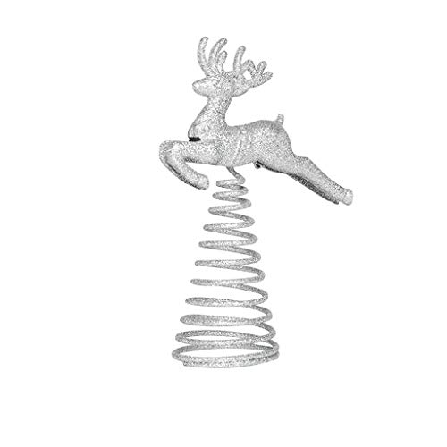 Holiday Pendant  Spring Running Deer Christmas Tree Top Ornament Topper Xmas Party Decoration Home & Garden Decoration & Hangs
