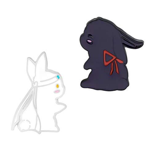 VALICLUD Mo Dao Zu Shi Coniglio Spilla Maestro di Demoniaci Coltivazione Wangji Wuxian Bunny Spilla Pin Festa di Pasqua Fornisce Sacchetto di Stuffers 2Pcs