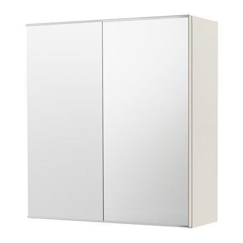 2 XIKEA LILLÅNGEN Spiegelschrank mit 2 Türen; in weiß; (60x21x64cm)