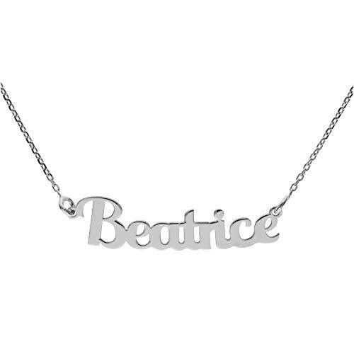 Collana con Nome in Argento (Beatrice)