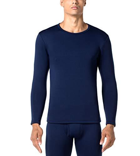 LAPASA Uomo Maglia Termica Invernale Ad Alta Densità T-Shirt Maniche Lunghe Ultra Termico Heavyweight M26 (X-Large, Blu Navy)