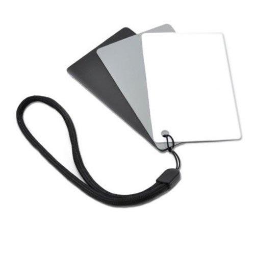 JJC GC-3 Set of 3 Digital Grey white balance card , waterproof , portable With strap and detachable lanyard