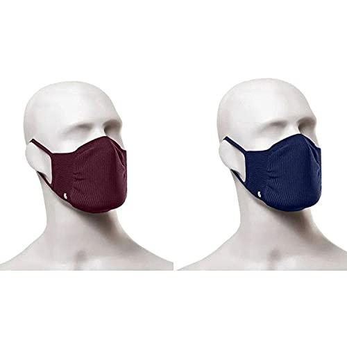 Máscara Zero Costura Vírus Bac-Off - Kit com 2 unidades (Adulto) Lupo Marinho e Vinho