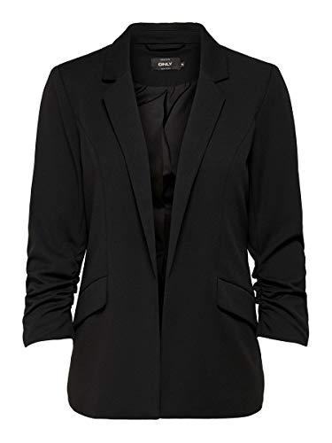 ONLY Damen Anzugjacke onlCAROLINA DIANA 3/4 BLAZER CC TLR Schwarz (Black), (Herstellergröße:40)