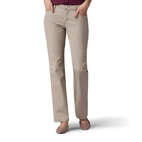Lee Women's Relaxed Fit Straight Leg Jean, Biscotti, 12