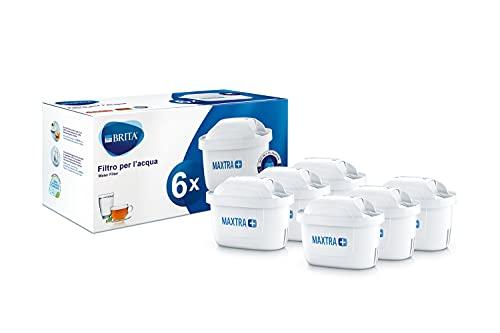BRITA Filter für Wasserfilter Maxtra +, Kunststoff/Kohle/Harze 6 Filtri Bianco