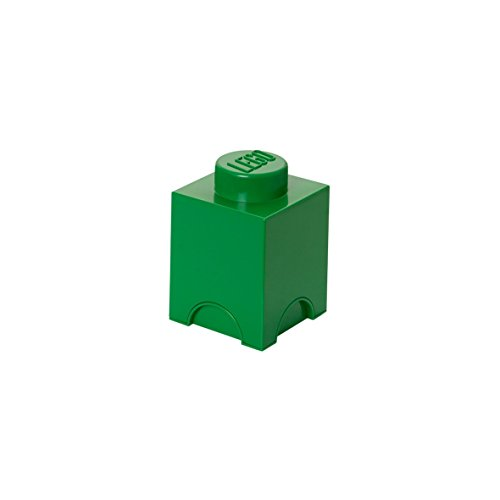 Room Copenhagen-Brick Box 1 Caja de Ladrillos Lego, Color Verde Oscuro, (40010634)