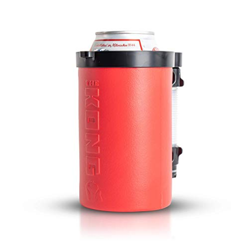 The Kong Beer Bong 2.0. A Portable Can or Bottle Coozie/Cup With A Detachable, Expandable, Hose To Funnel Your Beer. Built For Drinkers. (Red)
