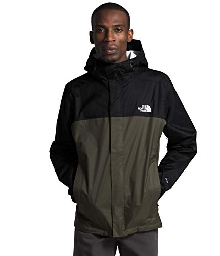 The North Face Men's Venture 2 Jacket, TNF Black/New Taupe Green, Medium