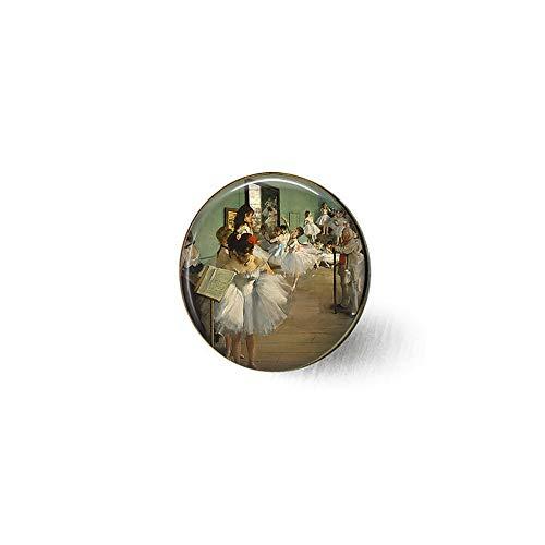qws Edward Degas The Dance Class Brosche mit Ballett-Motiv, klassischer Kunstschmuck, Tanz, Ballerina-Geschenk, klassisches Kunstschmuck, Tänzerin