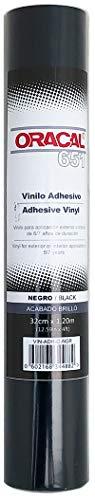 Vinilo adhesivo Oracal 651 (Negro)