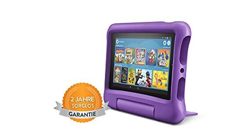Fire7 Kids-Tablet | Ab dem Vorschulalter | 7-Zoll-Display, 16GB, violette kindgerechte Hülle