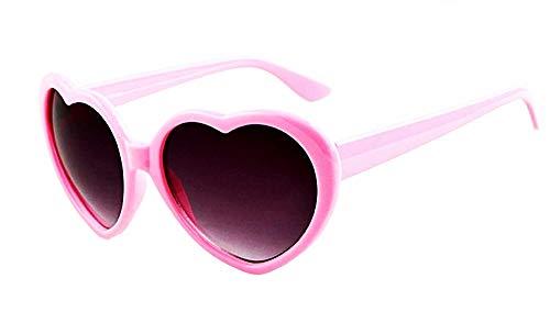 Lovelegis Gafas de sol con forma de corazón - mujer - lolita - uv400 polarizado - rosa - idea de regalo de cumpleaños