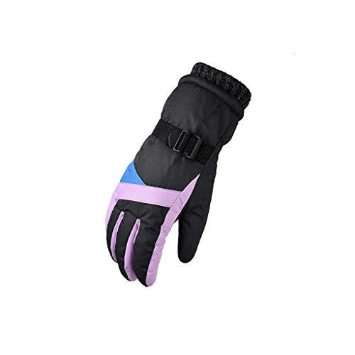 Fulltime E-Gadget Winter Outdoor Wind Proof Handschuh Ski Reiten Warme Bergsteigen Outdoor Handschuh für Fahren Radfahren Skifahren Laufen Klettern (Grau)