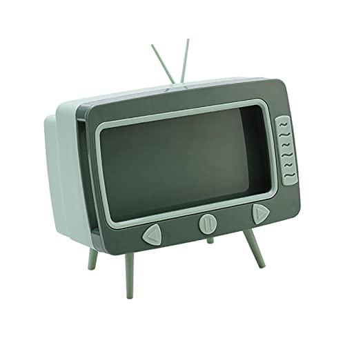 Caja de pañuelos de TV Soporte de teléfono móvil de escritorio Servilleta de tejido Contenedor Rack Cajón Caja de almacenamiento de plástico Sala de estar