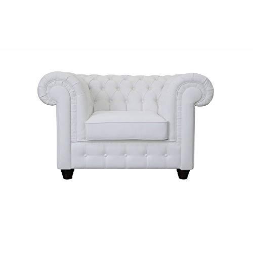 JVmoebel Chesterfield Mello 1 posto bianco poltrona divano cuscino divano divano divano letto nuovo