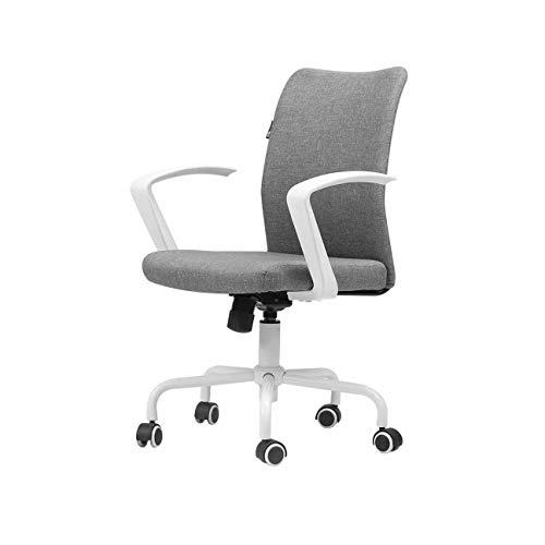 FENXIXI Silla de oficina, con respaldo medio, transpirable, de malla, para oficina, escritorio, con soporte lumbar
