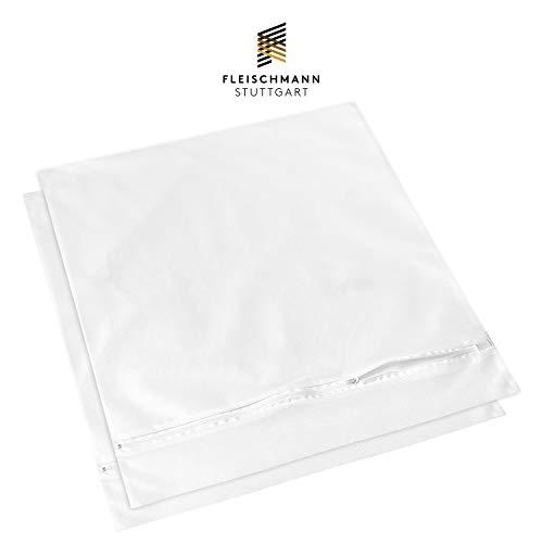 Fleischmann Waschmaschine Wäschesack 2 STK. I XXL Wäschenetz I Schutz für Microfaser, empfindliche Wäsche und Schuhe I 50 x 55 cm I Wäschebeutel zum Wäsche waschen