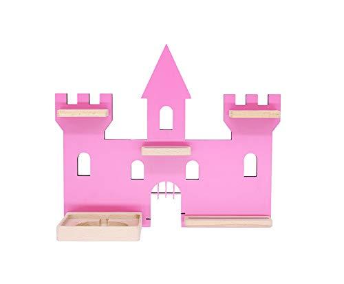 BOARTI Kinder Regal Schloss in Pink, Märchenschloss geeignet für die Toniebox und ca. 28 Tonies - zum Spielen und Sammeln