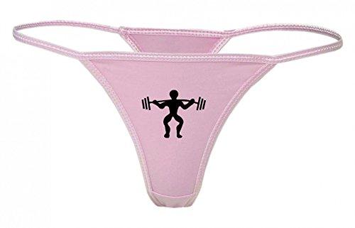 Druckerlebnis24 String Tanga Gewichtheben- Bodybuilder- Gewicht- FENSTERHEBER- Fitness- ÜBUNG- KÖRPER- Starke- AUFHEBUNG- STÄRKE- Sport XS- XXL Damen String Sexy Unterhose