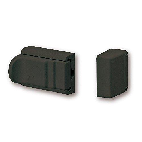 BURG-WÄCHTER, Tür- und Fenstersicherung, Beidseitig verwendbar, Komfort-Riegel R 60 B SB, Braun