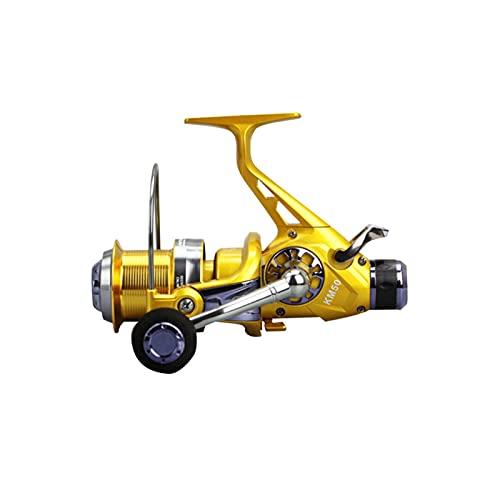 TASGK Carrete de Pesca 13+1 Bola Rodamiento 5,2:1 Carpa Carrete Alimentador Giratoria de Metal Carretes de Pesca de Cebo de Pesca,6000Series