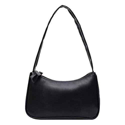 Mankoo Retro Achselhöhle Tasche Retro-Stil Achselhöhle Tasche Damen Bowknot Handtasche Pu Leder Umhängetasche