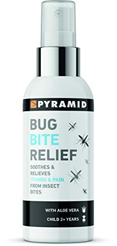 Pyramid Bug Bite Relief Spray, zur Linderung bei Insektenstichen, mit Aloe Vera, 60 ml