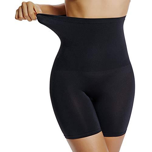 Joyshaper Damen Miederpants Figurenformende Miederhose mit Hohe Taille Hoch Elastische Shapewear Perfekt für Alle Art von Bekleidung, Schwarz, XXL