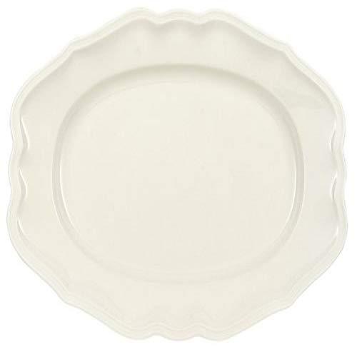 Villeroy & Boch Manoir Servierplatte, 37 cm, Premium Porzellan, Weiß