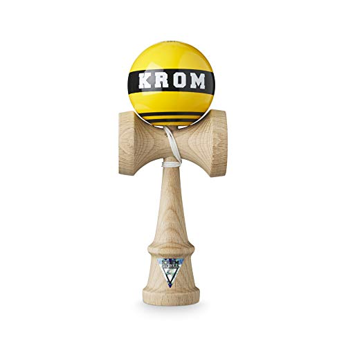 KROM Kendama Strogo NYC Cab – Flawless Balance – Strong and Durable – Enhanced Cognitive Skills – Improved Balance, Reflexes, and Creativity – Kendama Model Pro Made for Beginners and Experts