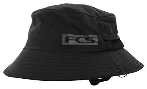 FCS Essential Bucket Surf Hat - Sombrero para surf, color negro