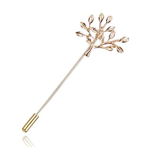 MOONRING Metallbrosche Vintage Hollow Out Bogen Kronenbaum Faux Kristall Revers Stick Pin Abzeichen für Frauen Männer, Kleiner Baum