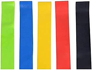 Loop Resistance Bands (Set of 5) - Exercise Resistance Bands - 12-inch Loop Workout Band - Best for Stretching, Physical T...