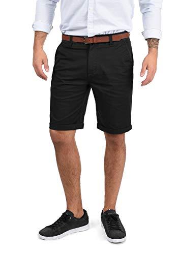 !Solid Montijo Chino Shorts Bermuda Kurze Hose Mit Gürtel Aus Stretch-Material Regular Fit, Größe:M, Farbe:Black (9000)