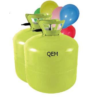 Lot de 2 Grandes Bouteilles hélium XL50 pour gonfler 100 ballons de baudruche de 23cm (non inclus)