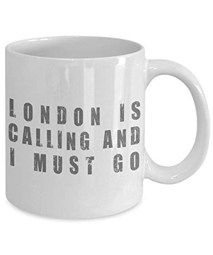 N\A Taza de café de Londres Vacaciones de Londres Nacido en Inglaterra Taza Divertida Vacaciones Familiares Viajes de Verano Taza de café Gran bretaña State Patriot Cup Diciendo