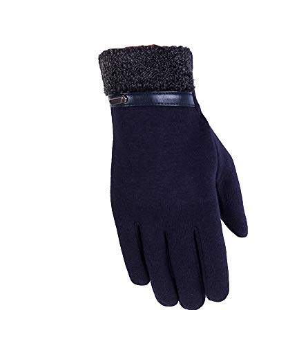 GladiolusA Herren Handschuhe Outdoor Touchscreen Warme Winterhandschuhe Dickes Fahrradhandschuhe Radhandschuhe Laufhandschuhe ADunkelblau
