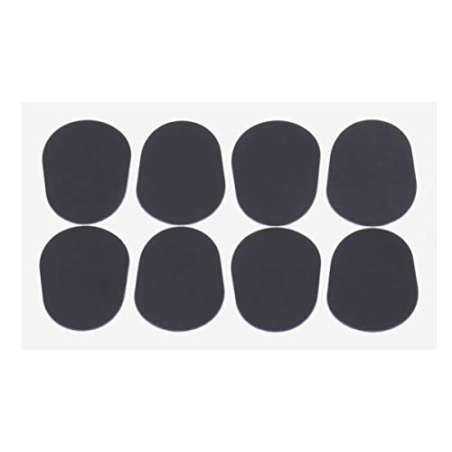 Pixnor Altotenor Sax Clarinet Mouthpiece Patches Pads Cushions, Black, 8 Pack