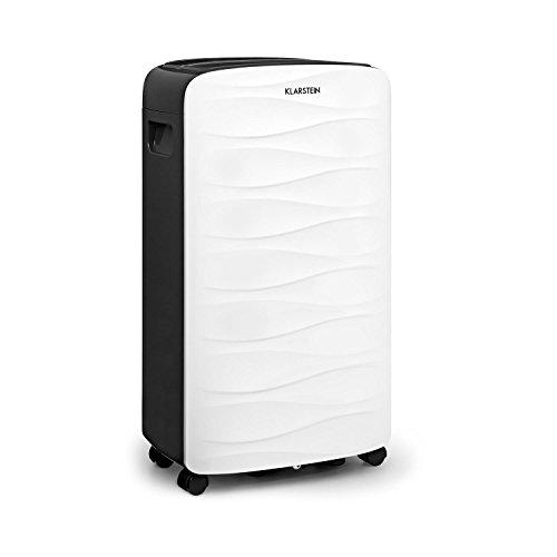 Klarstein DryFy 16 Luftentfeuchter - 255 Watt, 2 Liter Wassertank, Entfeuchtungsleistung von 16 Litern pro Tag, programmierbare Zielluftfeuchte, für 25-35 m² (bis 85 m³) Raumgröße, weiß-grau
