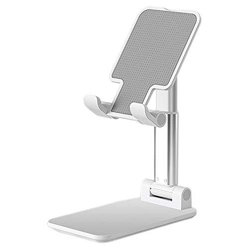 WOVELOT Soporte, 4LH VersióN de ElevacióN Ajustable de AleacióN de Aluminio MultifuncióN Soporte para TeléFono MóVil/Tableta-Plata