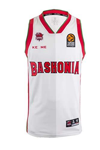 Baskonia 3º Equipación Camiseta, Adultos Unisex, Blanco, M