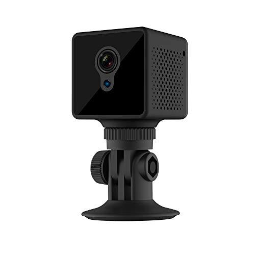Monitoring webcam, klein en handig, batterij met grote capaciteit, nachtzicht, draadloze verbinding, bewegingsdetectie, duidelijke webcam,Black
